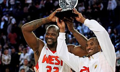 Kobe Bryant félicite le Shaq :