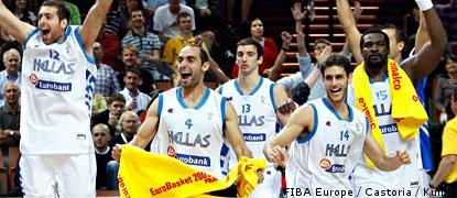 La Grèce l'emporte face à la Slovénie