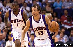 Avec Steve Nash et Amar'e Stoudemire, les Suns faisaient souffrir les défenses adverses en 2007.