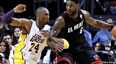 LeBron James admiratif de Kobe Bryant