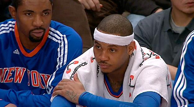 Melo ne capte rien à la défense des Knicks