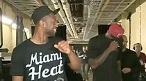 LeBron et Wade se foutent de la gueule de Nowitzki