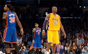 Kobe dégoute Balkman en 2 paniers