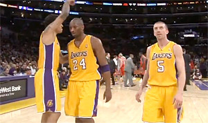 Kobe Bryant guide les Lakers, Pekovic et Love marchent sur Houston, OKC et Utah assurent