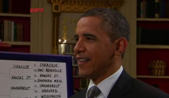 Barack Obama livre son Bracket