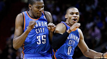 """Russell Westbrook : """"Kevin Durant est le MVP"""""""