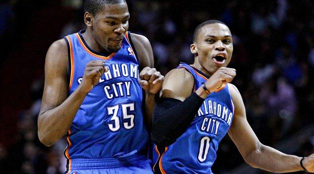Durant et Westbrook plantent 78 points pour venir à bout des Wolves