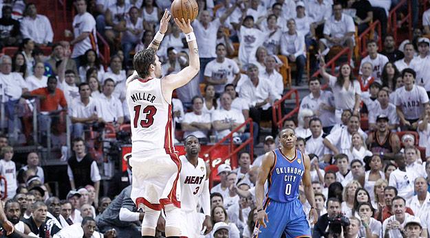 Miami a fait la différence à trois-points sur la série