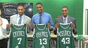 Les Bostons Celtics présentent leurs rookies à la presse