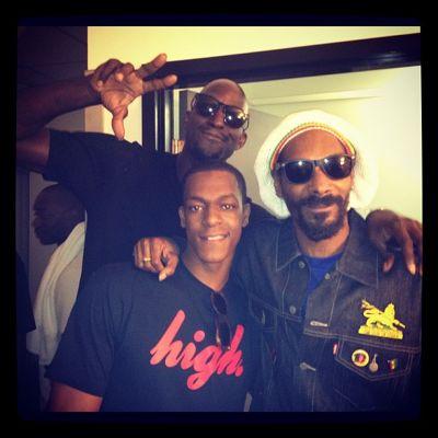 Rajon Rondo et Kevin Garnett s'éclatent avec Snoop Dogg