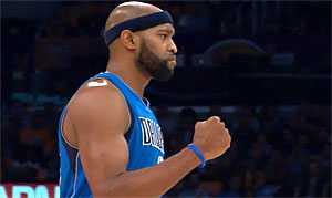 Vince Carter des Dallas Mavericks