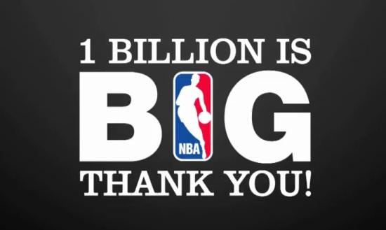 La NBA célèbre ses 1 milliard de vues sur Youtube