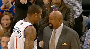 Quand Mike Woodson se prive d'Amar'e Stoudemire pourtant chaud en quatrième quart