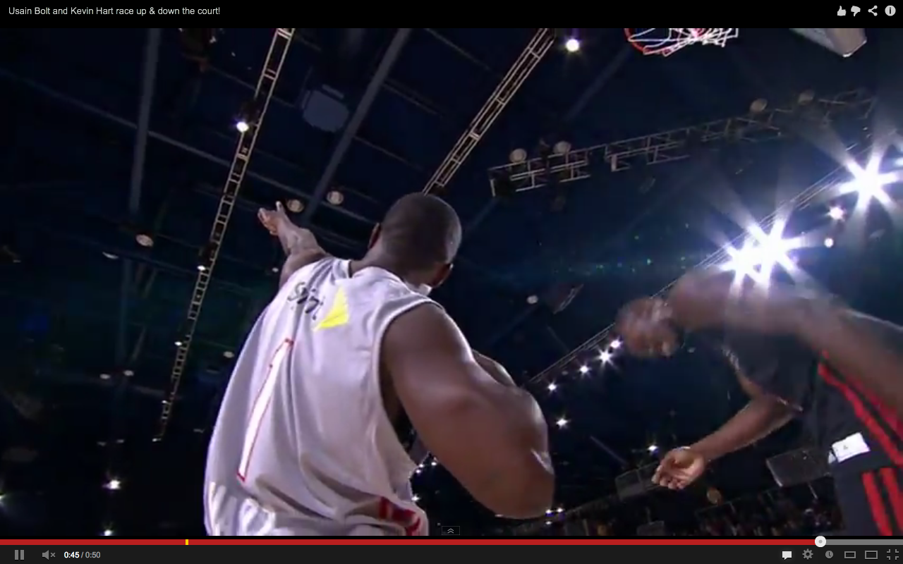All-Star Game: Usain Bolt et Kevin Hart font le show au match des célébrités