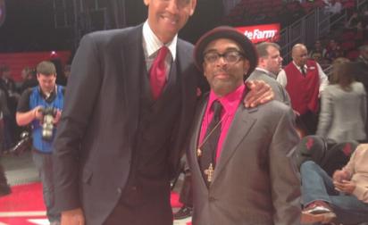 All Star Game: Reggie Miller et Spike Lee posent ensemble