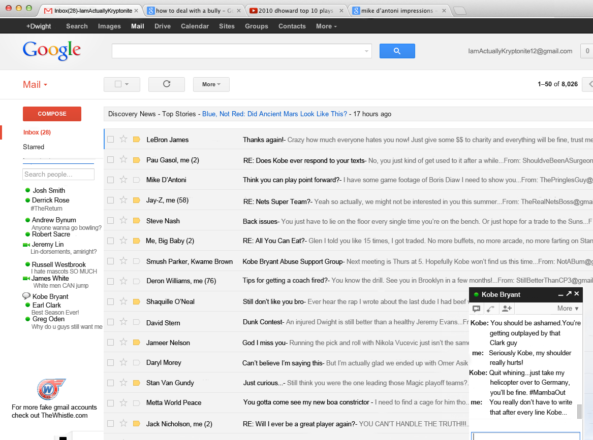 ENORME : Le faux Gmail de Dwight Howard