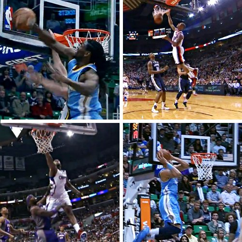 Top 10 : Faried scotche Hayward, Iguodala en reverse et McGee claque le alley-oop