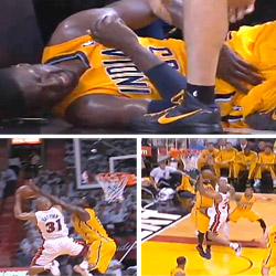 Roy Hibbert accuse Shane Battier d'être un dirty player