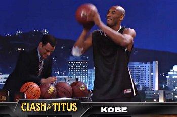Kobe incapable de battre un petit de deux ans dans un concours de shoots