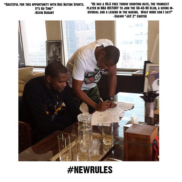 Officiel : Kevin Durant signe avec Jay-Z