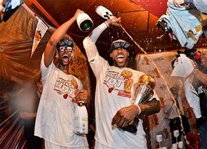 Info conso: Le Miami Heat a encore fait couler le champagne à l'oeil