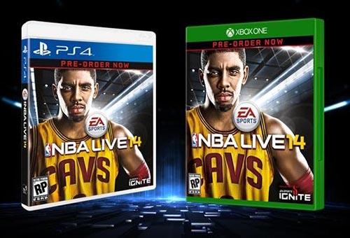 Kyrie Irving en couverture de NBA Live 14