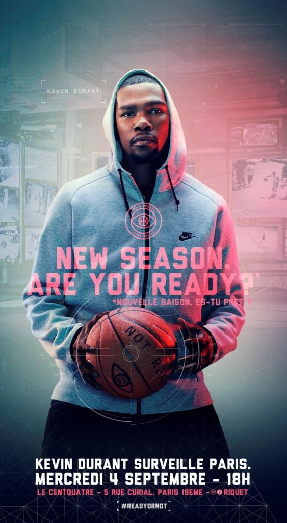Kevin Durant à Paris le 4 septembre prochain