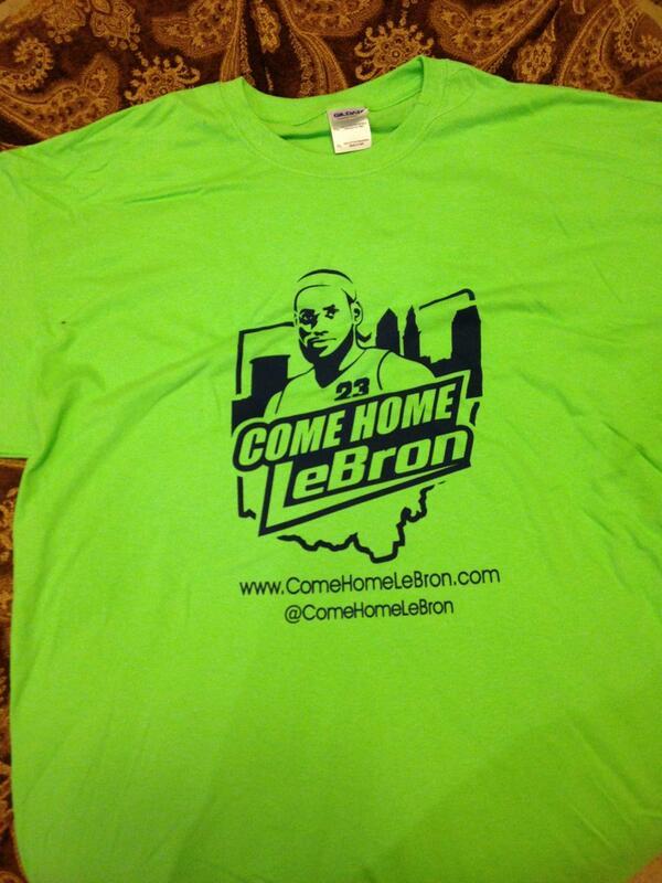 Les fans des Cavs lancent la campagne « Come Home LeBron »