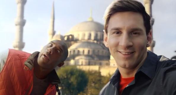 Vidéo : Concours de selfies entre Kobe Bryant et Lionel Messi