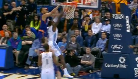 Vidéo : Gerald Green escalade JJ Hickson sur une claquette dunk