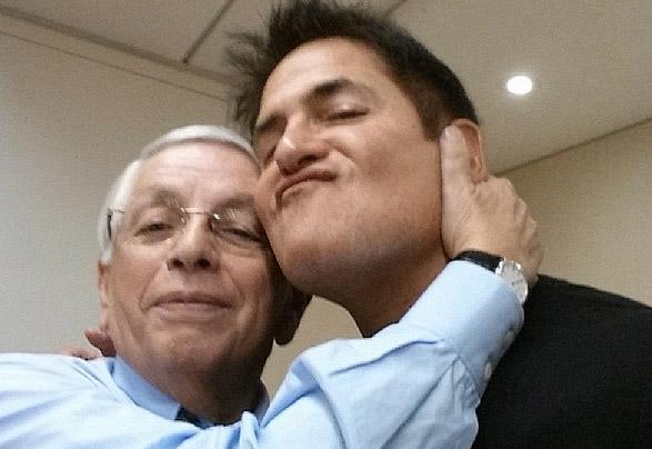Photo : Le selfie d'adieu de Cuban à Stern
