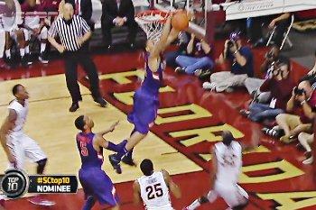 Vidéo : KJ McDaniels claque le contre de l'année en NCAA