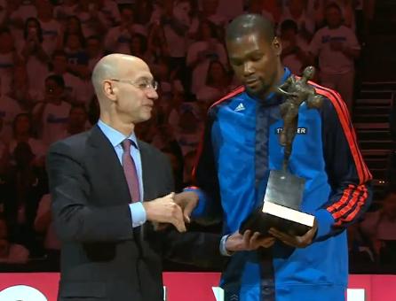 Kevin Durant, MVP devant son public