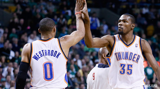 Quand Kevin Durant défend Russell Westbrook