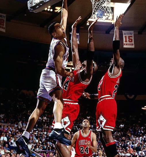 Il y a 23 ans, John Starks postérisait Michael Jordan et Horace Grant