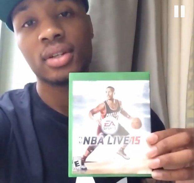 Damian Lillard en couverture de NBA LIVE 15