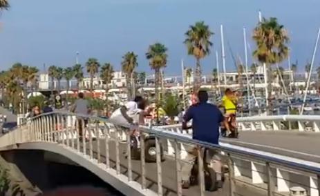 Vidéo : Une belle frayeur en Segway pour James Harden