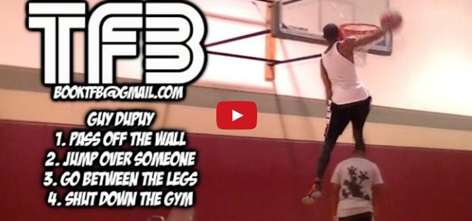 Vidéo : Guy Dupuy claque encore un énorme dunk