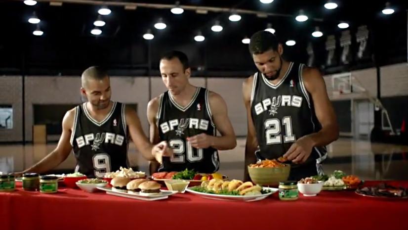 Pub : Les Spurs s'éclatent dans 3 nouveaux spots