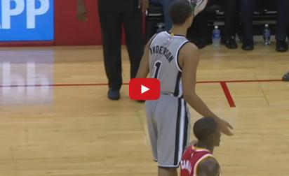 Vidéo : Kyle Anderson se tape l'affiche pour ses débuts NBA
