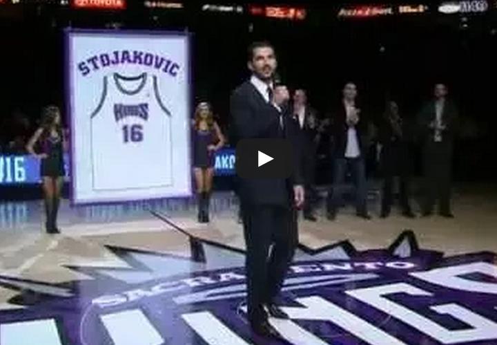 Les Kings ont rendu hommage à Peja Stojakovic