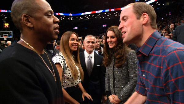 Jay-Z et Beyonce tapent la discute au Prince William et à Kate Middleton