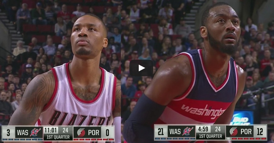 Highlights : Le duel John Wall Vs Damian Lillard
