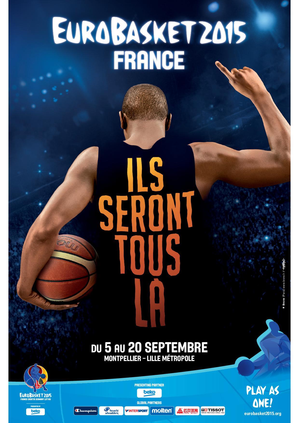 L'affiche de l'Eurobasket 2015 dévoilée !