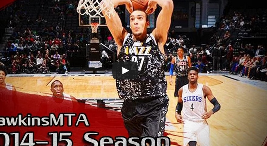 Highlights : Rudy Gobert brille au Rising Stars Challenge (18 pts, 12 rbds, 2 cts)