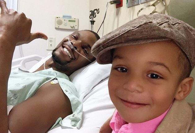 Rassurant : Chris Bosh tout sourire à l'hôpital