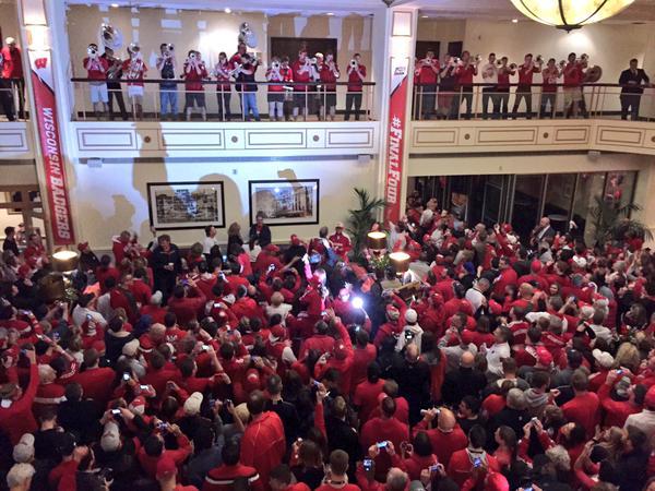 L'impressionnant accueil de Wisconsin par ses fans