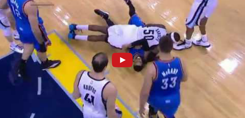 Buffle : Quand Zach Randolph charge D.J. Augustin !