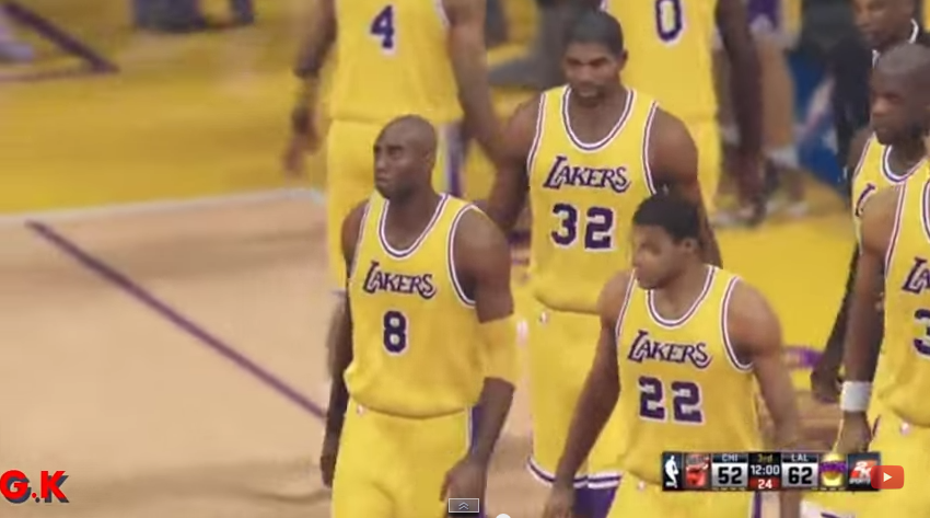 Le match Bulls-Lakers de Shaq sur NBA2K