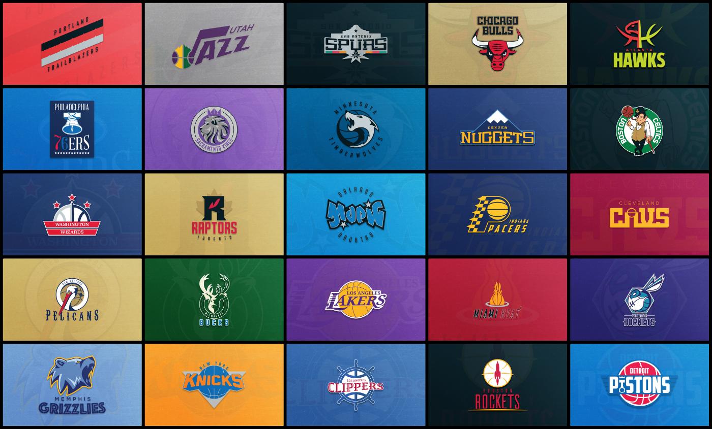 Superbe : Il redessine les 30 logos NBA